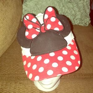 Mini mouse hat strap back with ears child sized